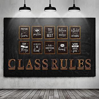 20 Pieces Class Rules Posters Motivational Quote Wall