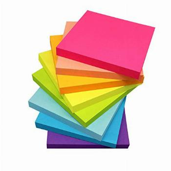 (8 Pack) Sticky Notes 3x3 Inches,Bright Colors Self-Stick