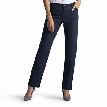 LEE Women's Relaxed Fit All Day Straight Leg Pant, 12