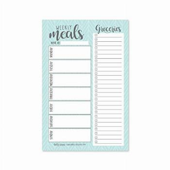 Teal Weekly Meal Planning Calendar Grocery Shopping List