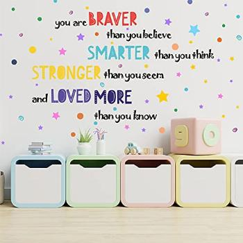 Yovkky Kid Inspirational Phrase Quote Wall Decal, Colorful